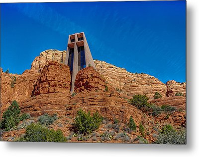 Chapel Of The Holy Cross Sedona Az Front Metal Print by Scott Campbell