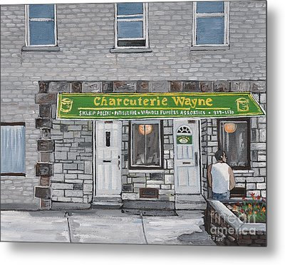 Charcuterie Wayne Pointe St. Charles Metal Print by Reb Frost