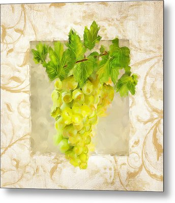 Chardonnay II Metal Print by Lourry Legarde