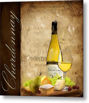 Chardonnay IIi Metal Print by Lourry Legarde