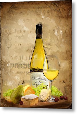 Chardonnay Iv Metal Print by Lourry Legarde