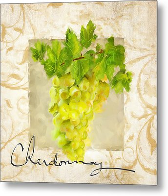 Chardonnay Metal Print by Lourry Legarde