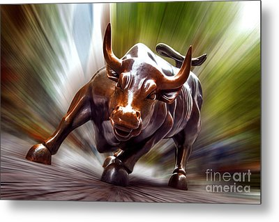 Charging Bull Metal Print by Az Jackson