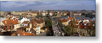 Charles Bridge Moldau River Prague Metal Print by Panoramic Images