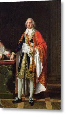 Charles Louis Francois Letourneur 1751-1817 1796 Oil On Canvas Metal Print by Jean Baptiste Francois Desoria