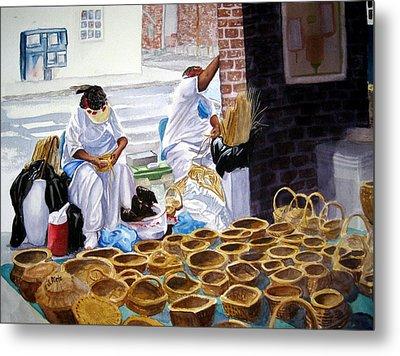 Charleston Basket Weavers Metal Print by Julia Rietz