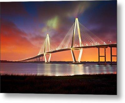 Charleston Sc - Arthur Ravenel Jr. Bridge Cooper River Metal Print by Dave Allen