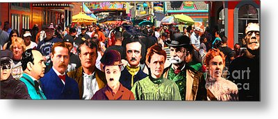 Charlie And Friends Tries To Blend In With The Crowd 5d23867 Metal Print by Wingsdomain Art and Photography