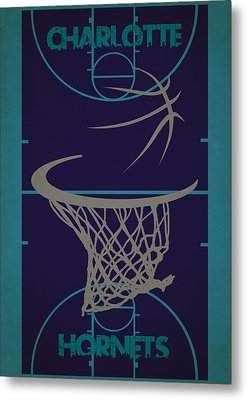 Charlotte Hornets Court Metal Print by Joe Hamilton