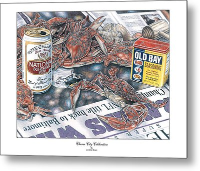 Charm City Celebration Metal Print by Jonathan W Brown