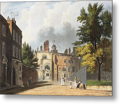 Charter House From The Square Metal Print by William Westall