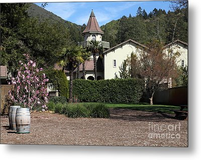 Chateau St. Jean Winery 5d22209 Metal Print by Wingsdomain Art and Photography