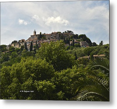 Chateauneuf Du Grasse Metal Print by Allen Sheffield