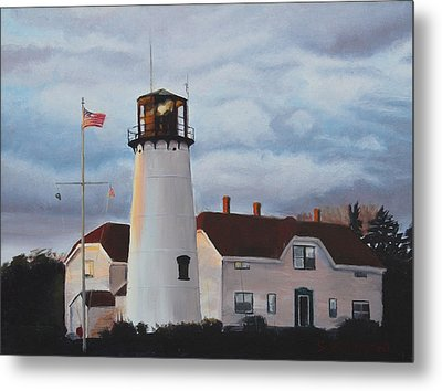 Chatham Lighthouse Metal Print by Sue Birkenshaw