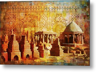 Chaukhandi Tombs Metal Print by Catf