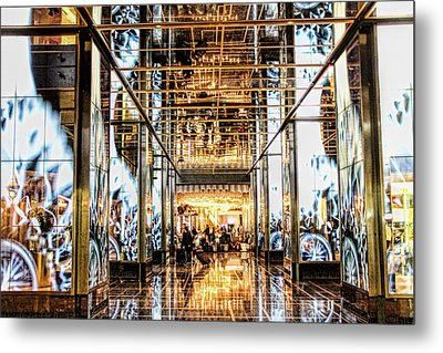 Check In Metal Print by Tammy Espino