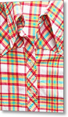 Checked Shirt Metal Print by Tom Gowanlock
