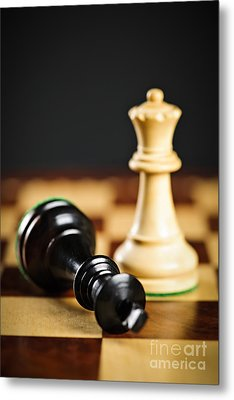 Checkmate In Chess Metal Print by Elena Elisseeva