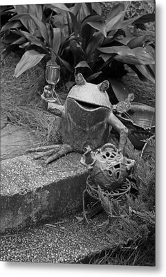 Cheers In Black And White Metal Print by Suzanne Gaff