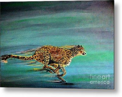 Cheetah Run Metal Print by Nick Gustafson