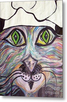 Chef Pierre ... A Cat With Good Taste Metal Print by Eloise Schneider