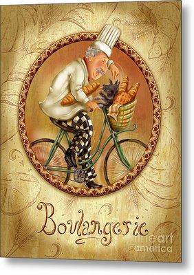 Chefs On Bikes-boulangerie Metal Print by Shari Warren