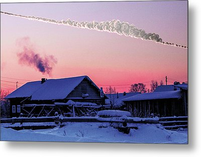 Chelyabinsk Asteroid Metal Print by Sandia National Laboratories