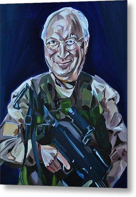 Cheneys Got A Gun Metal Print by Stuart Black