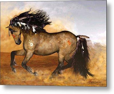 Cherokee Metal Print by Valerie Anne Kelly