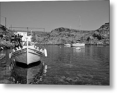 Cherronisos Bay In Sifnos Island Metal Print by George Atsametakis