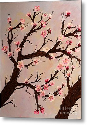 Cherry Blossom 1 Metal Print by Barbara Griffin