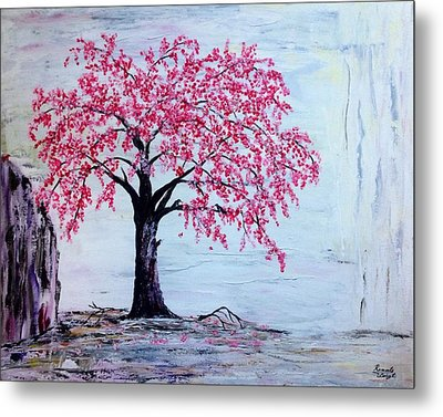 Cherry Blossom  Metal Print by Renate Voigt