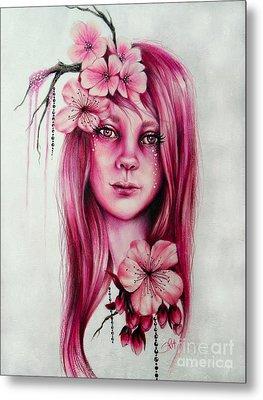 Cherry Blossom Metal Print by Sheena Pike