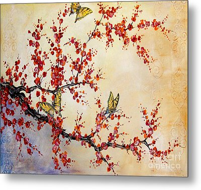 Cherry Blossoms Metal Print by Jean Plout
