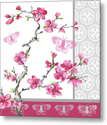 Cherry Blossoms-jp2328 Metal Print by Jean Plout