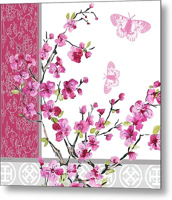 Cherry Blossoms-jp2329 Metal Print by Jean Plout