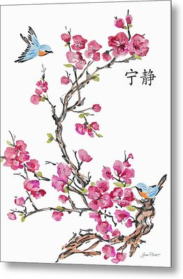 Cherry Blossoms-jp2366 Metal Print by Jean Plout