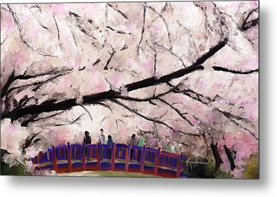 Cherry Blossoms Metal Print by Kume Bryant
