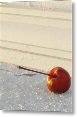 Cherry In The Spotlight Metal Print by Guy Ricketts