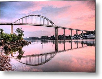 Chesapeake City Pink Metal Print by JC Findley