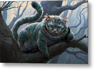 Cheshire Cat Metal Print by Movie Poster Prints