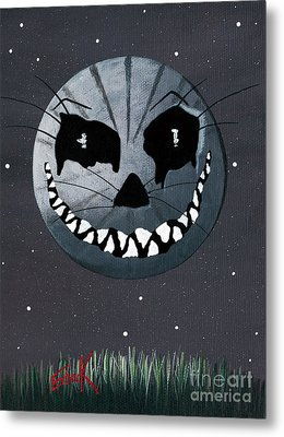 Alice In Wonderland Artwork - Cheshire Moon Metal Print by Shawna Erback