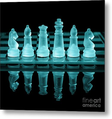 Chess Board Metal Print by Amanda And Christopher Elwell