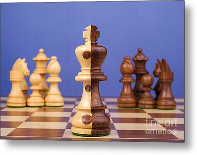 Chess Corporate Merger Metal Print by Colin and Linda McKie