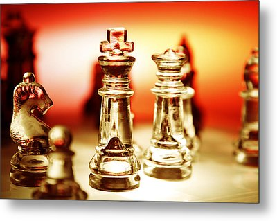 Chess Metal Print by Les Cunliffe