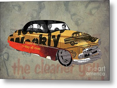 Chevrolet Belair 1951 And The Weekly News Metal Print by Pablo Franchi