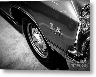 Chevrolet Chevelle 396 Black And White Picture Metal Print by Paul Velgos