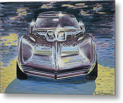 Chevrolet Corvette Metal Print by Rimzil Galimzyanov