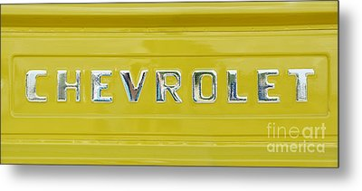 Chevrolet Pickup Tailgate Metal Print by Tim Gainey