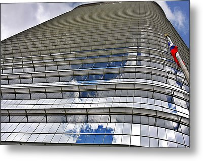 Chevron Corporation Houston Tx Metal Print by Christine Till